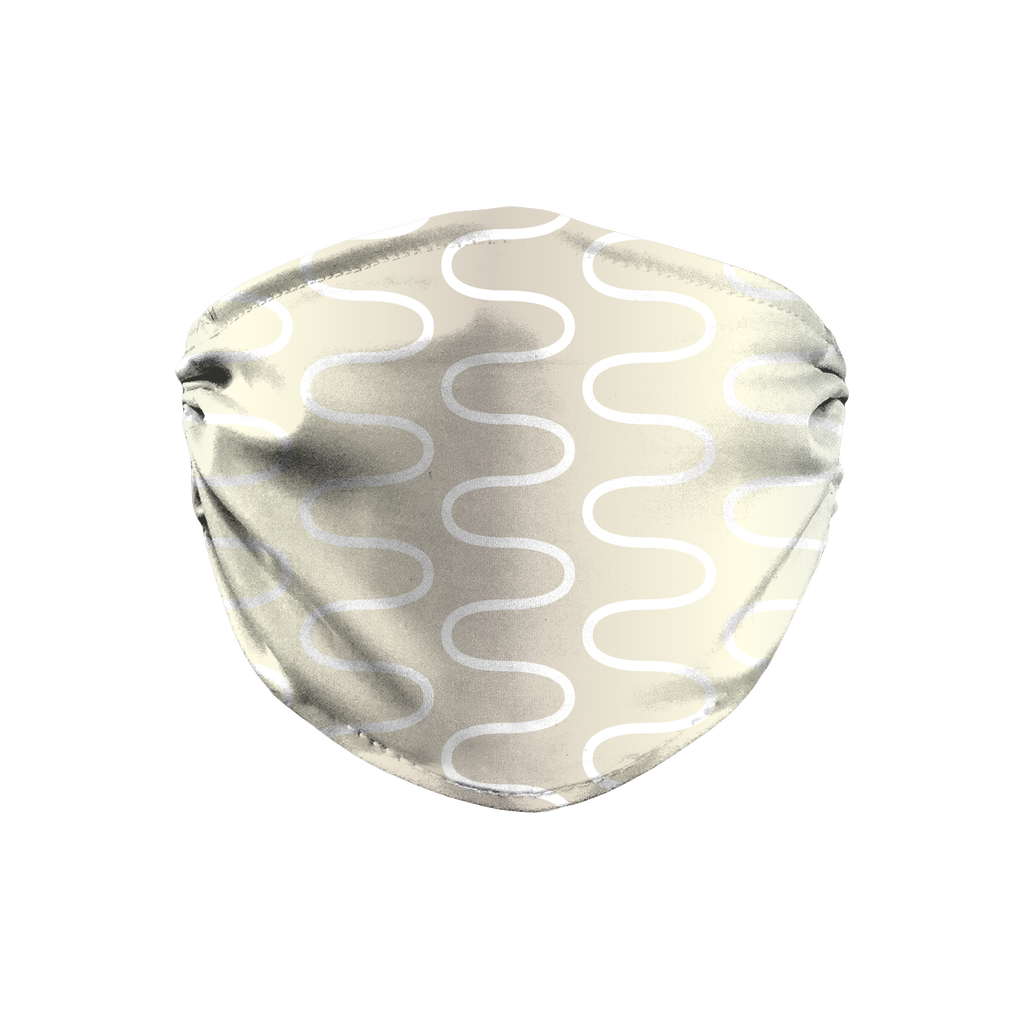 Silver Gold Pattern 5  Face Mask