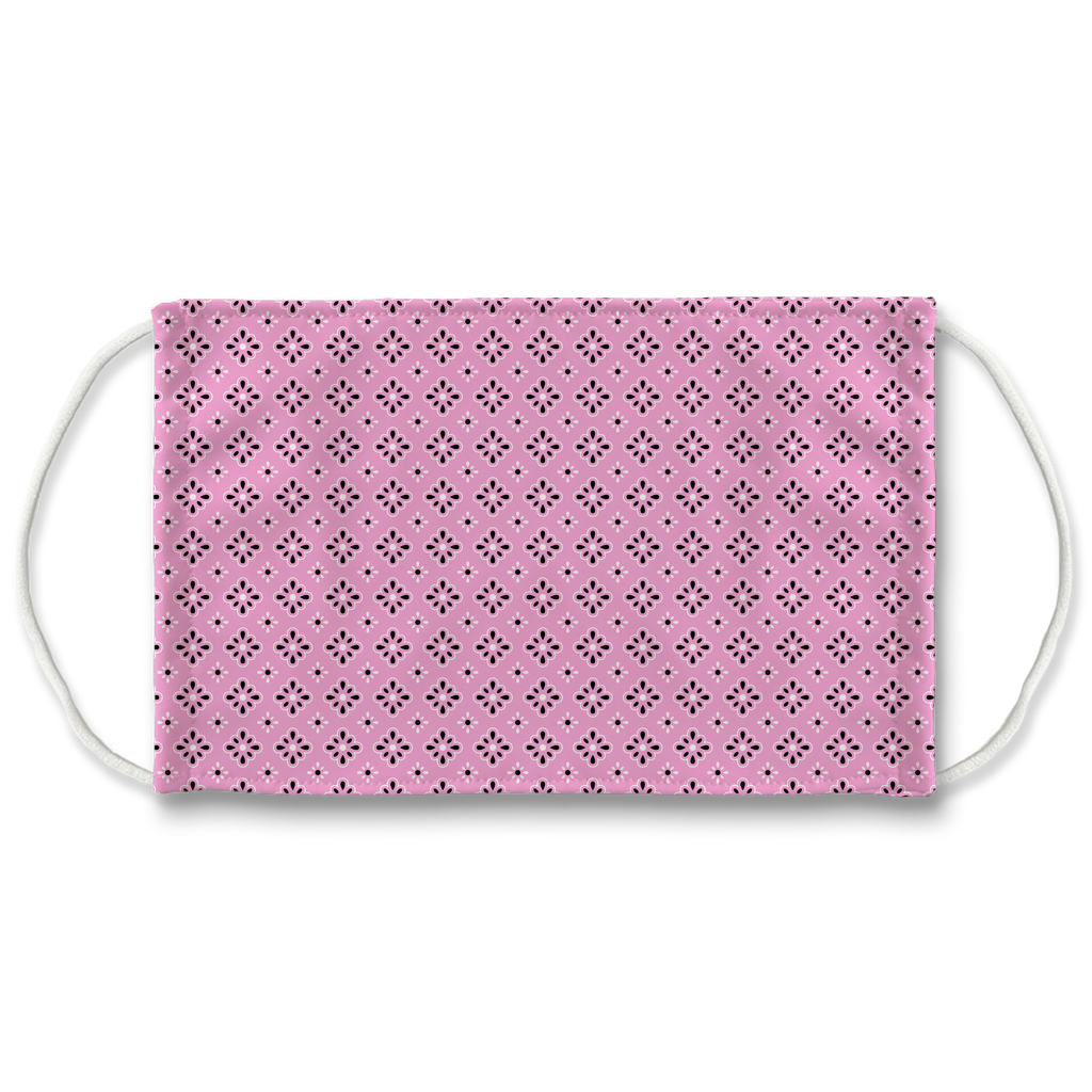 Pink Bandana Pattern 9  Face Mask