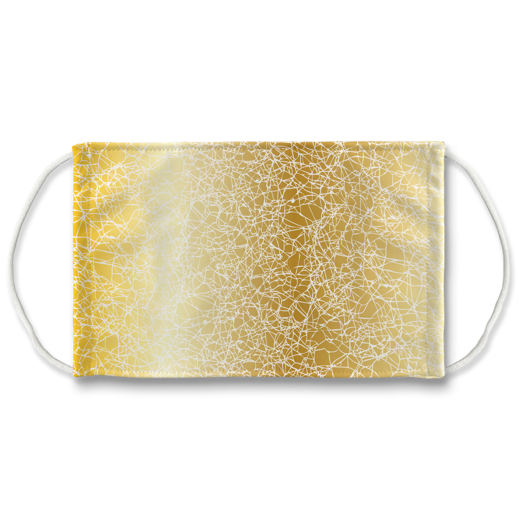 Silver Gold Natural Texture gold 1  Face Mask