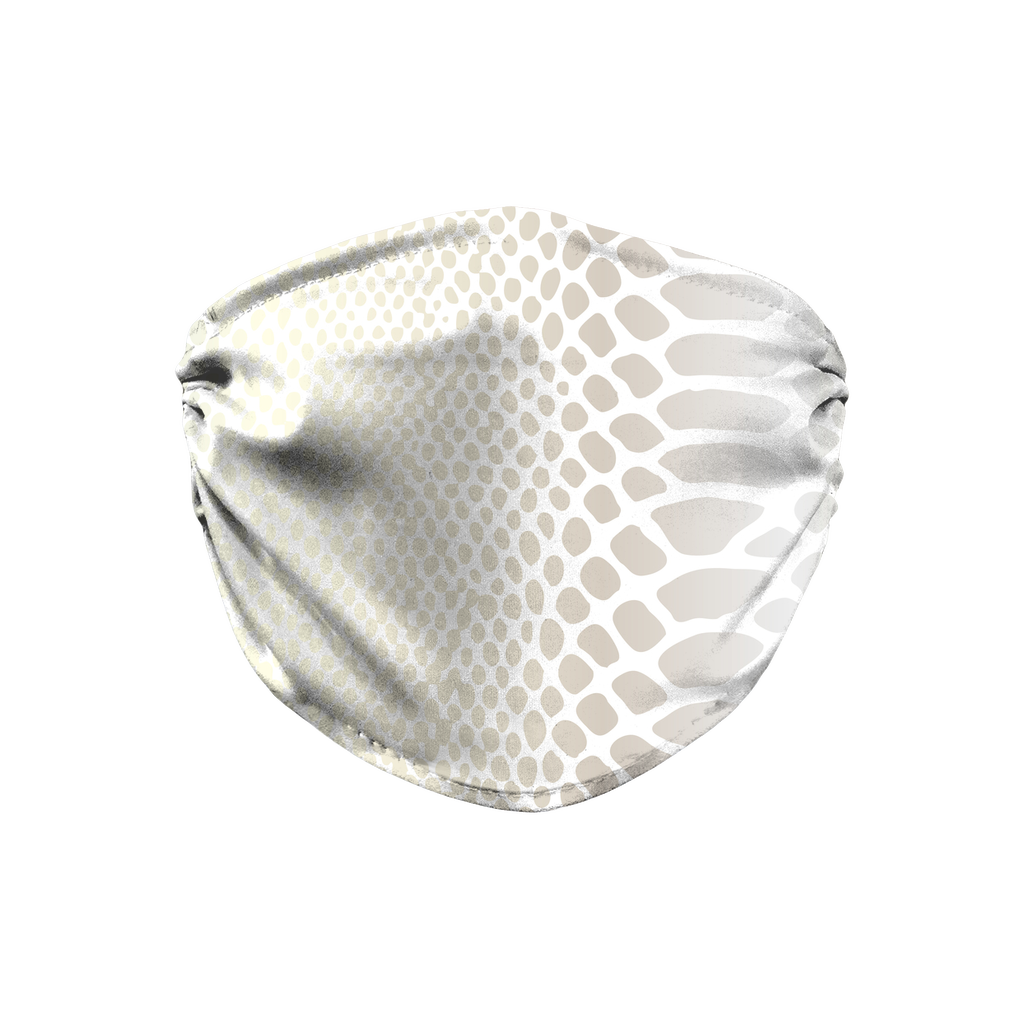 Metallic Snakeskin Texture 3  Face Mask