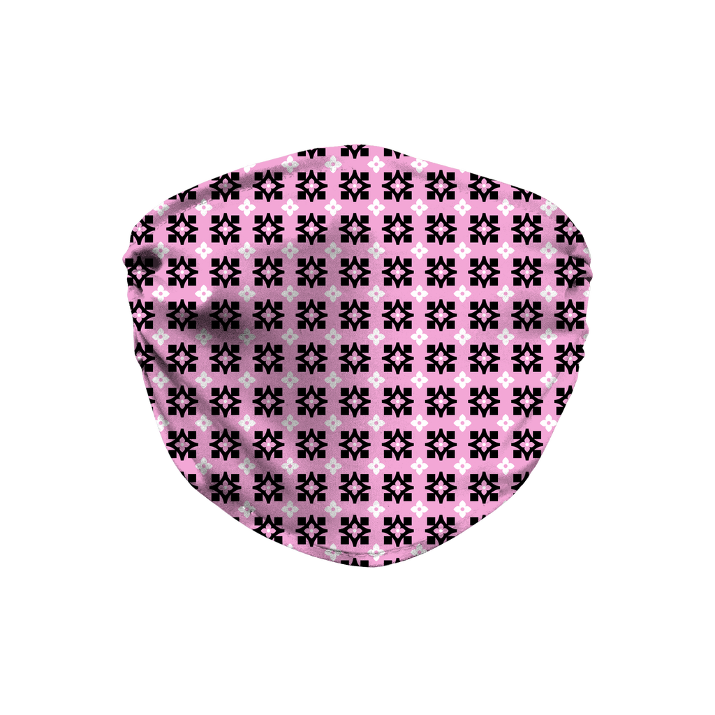 Pink Bandana Pattern 10  Face Mask