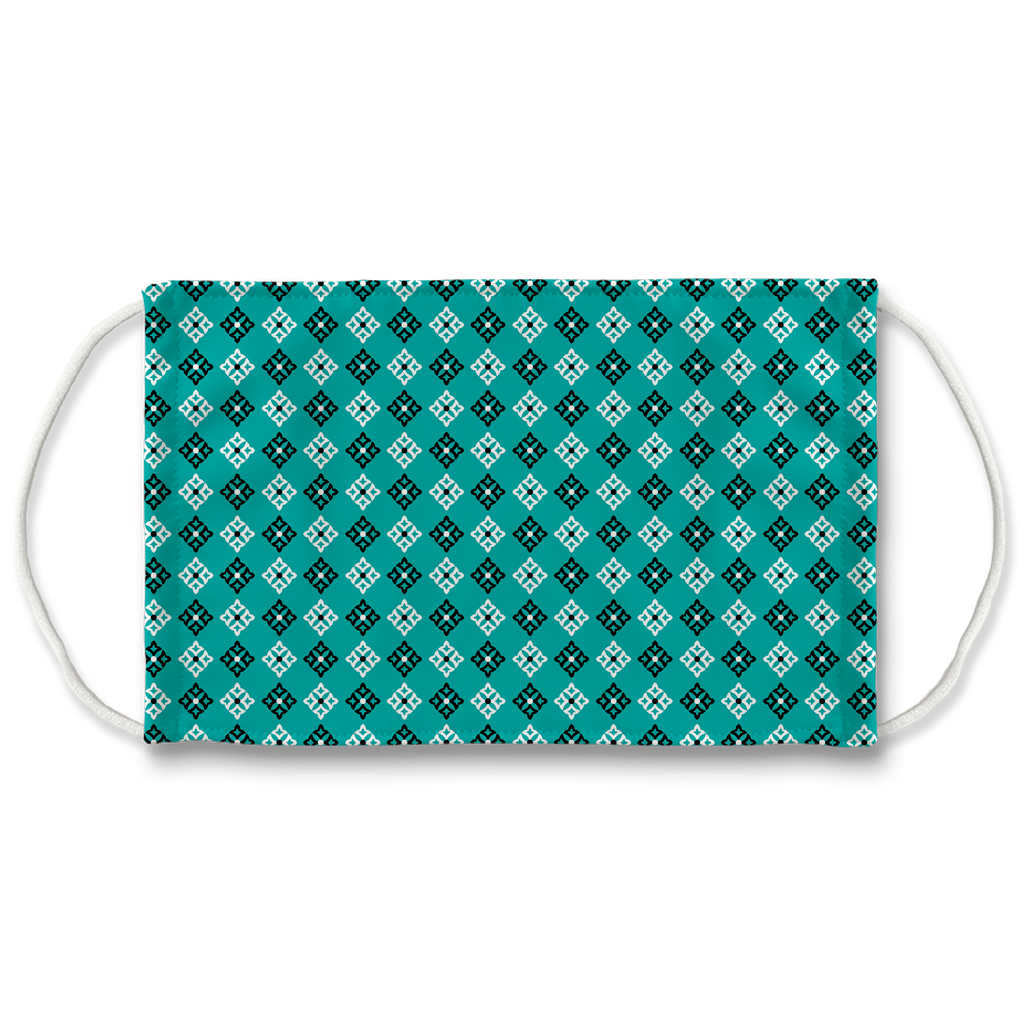 Turquoise Blue Bandana Pattern 5  Face Mask