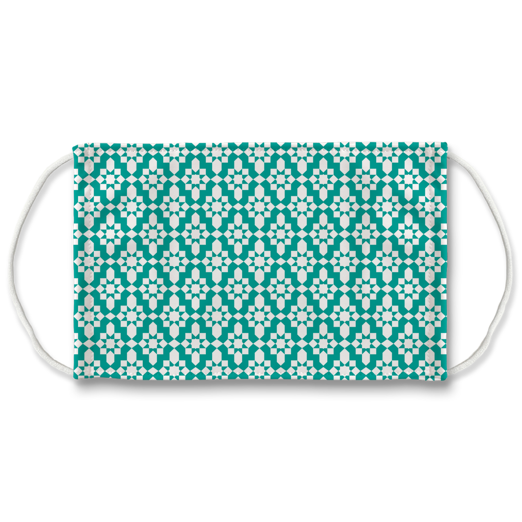 Blue Moroccan Pattern 1  Face Mask