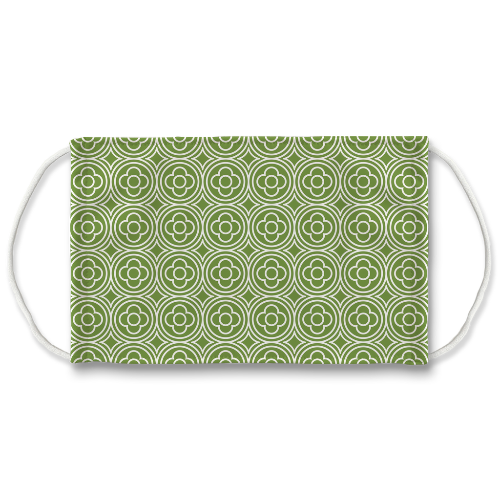 Green Moroccan Pattern 7  Face Mask