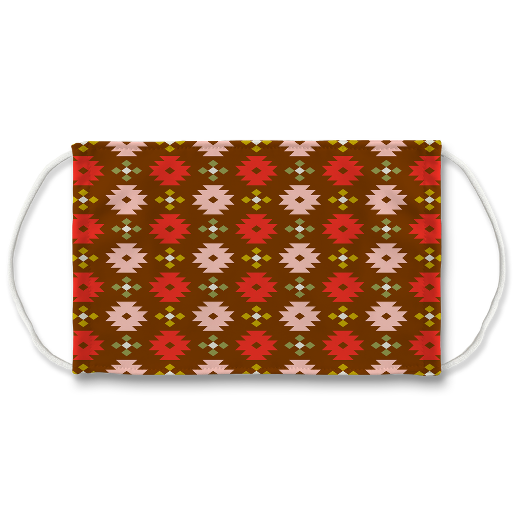 Primitive Geometric Pattern 9  Face Mask