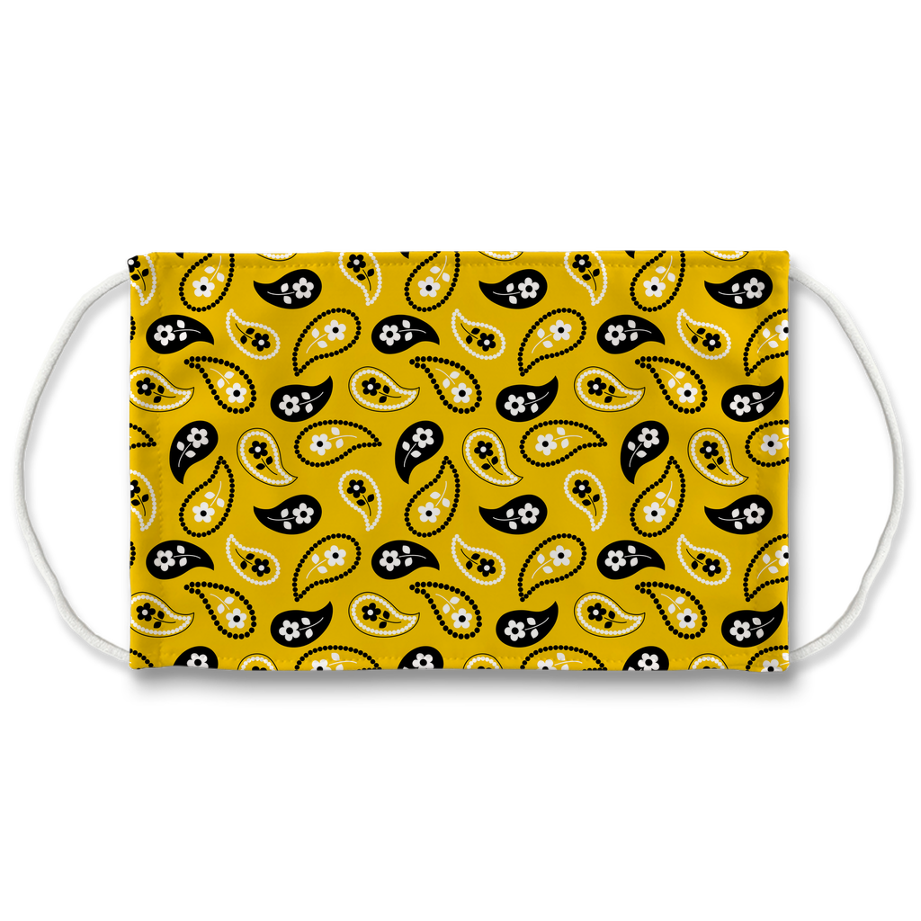 Yellow Bandana Pattern 11  Face Mask