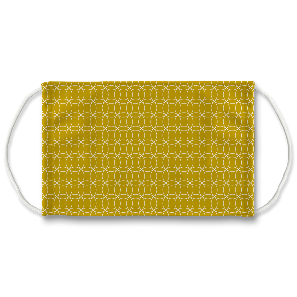 Circle Lattice Pattern 4  Face Mask