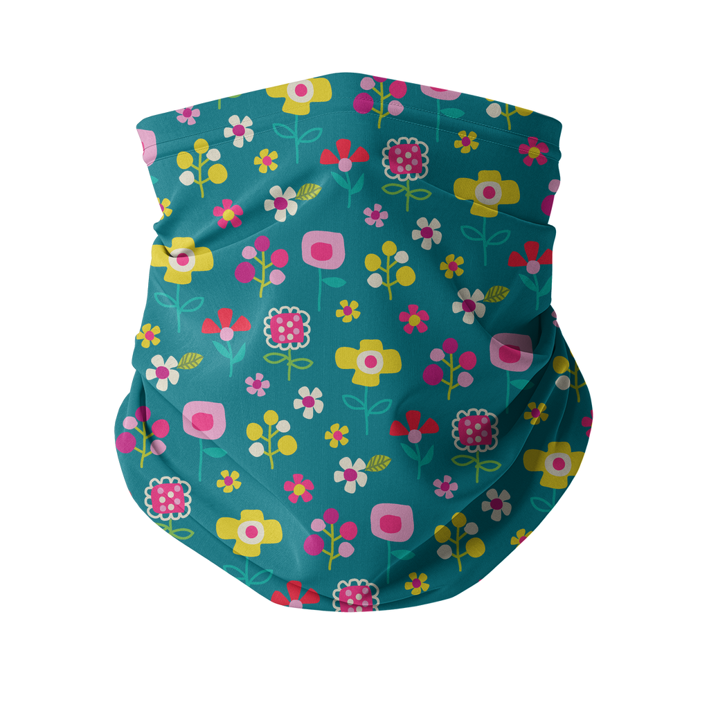 Flowers and Birds Neck gaiter 1 Sublimation Neck Gaiter