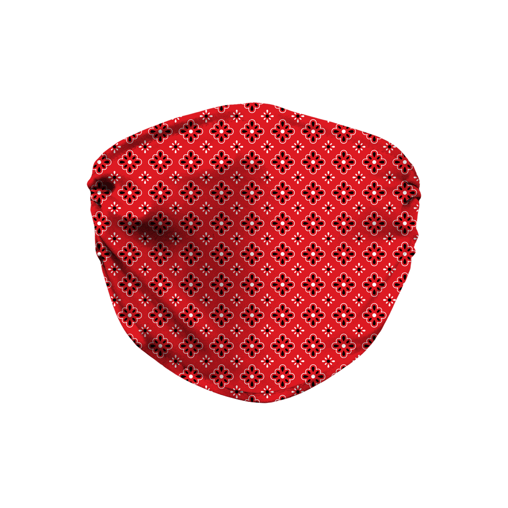 Red Bandana Pattern 9  Face Mask