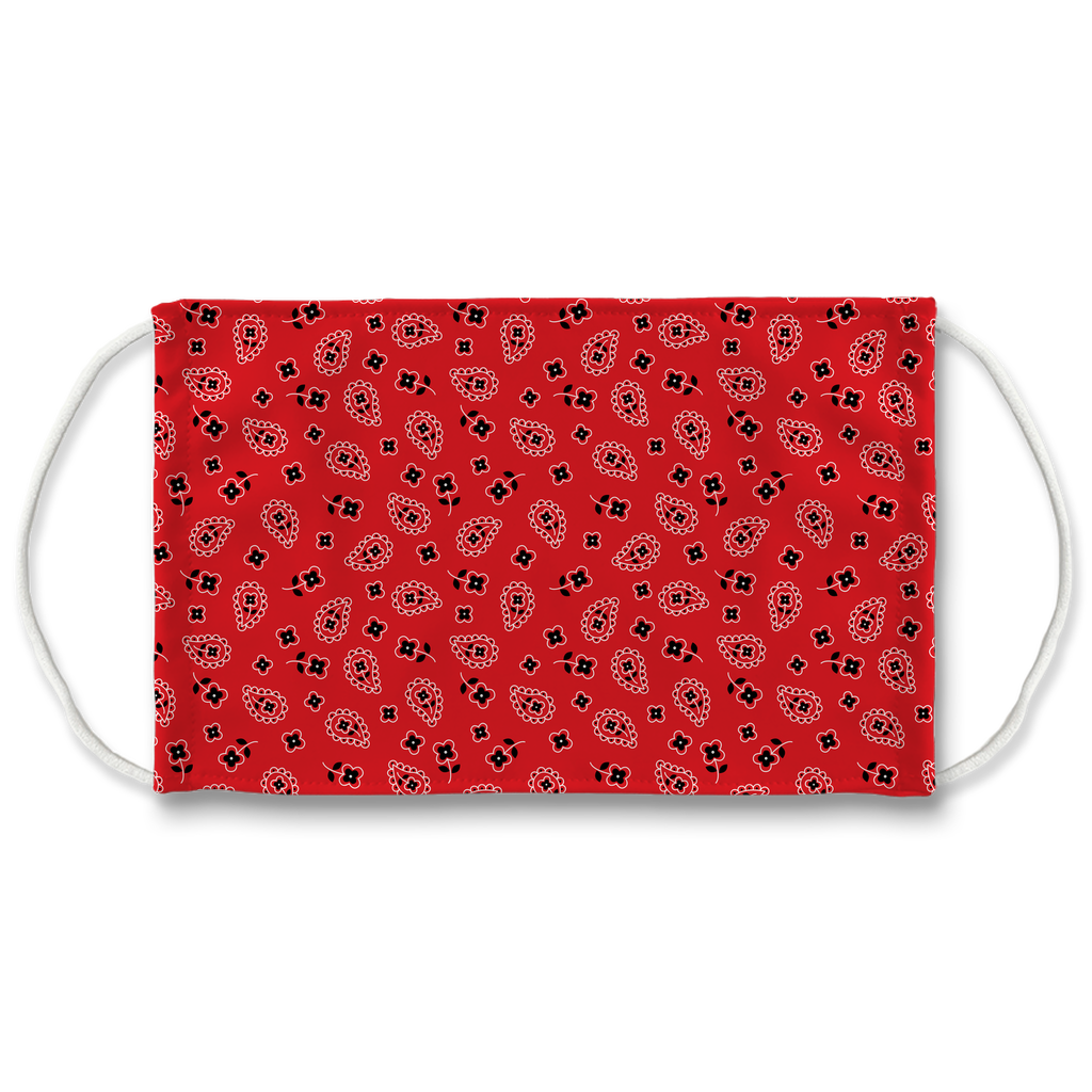 Red Bandana Pattern 3  Face Mask