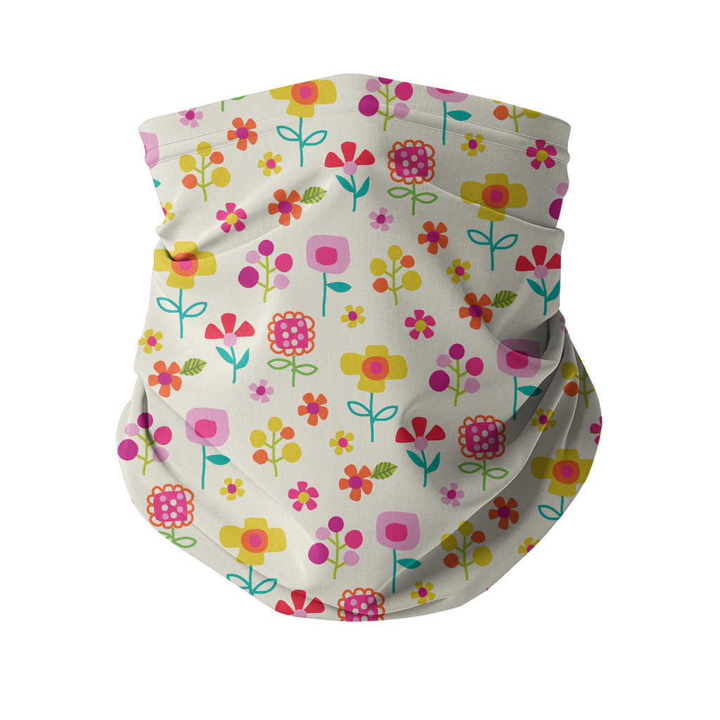 Flowers and Birds Neck gaiter 5 Sublimation Neck Gaiter