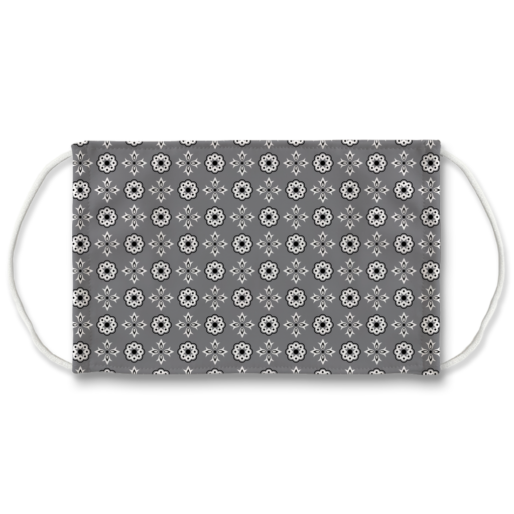Gray Bandana Pattern 12  Face Mask