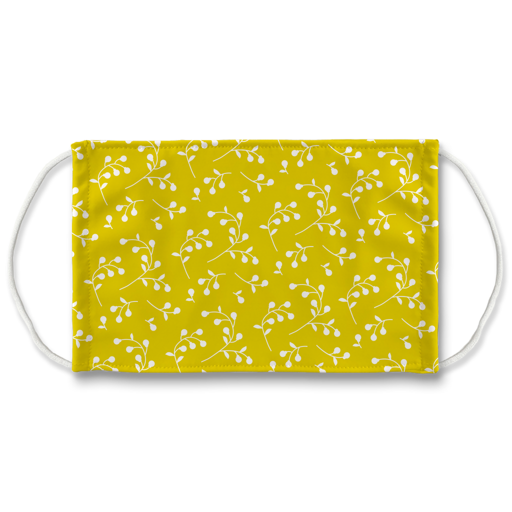 Retro Floral Pattern 9  Face Mask