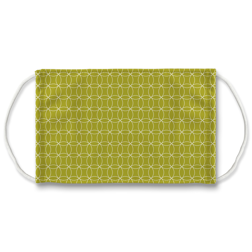 Circle Lattice Pattern 6  Face Mask