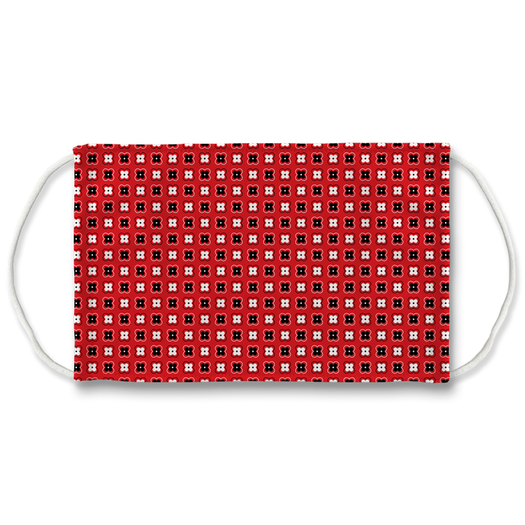 Red Bandana Pattern 4  Face Mask