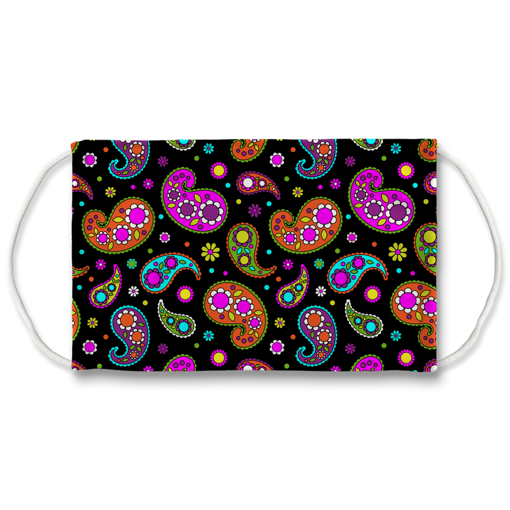 Paisley Floral Pattern 6  Face Mask