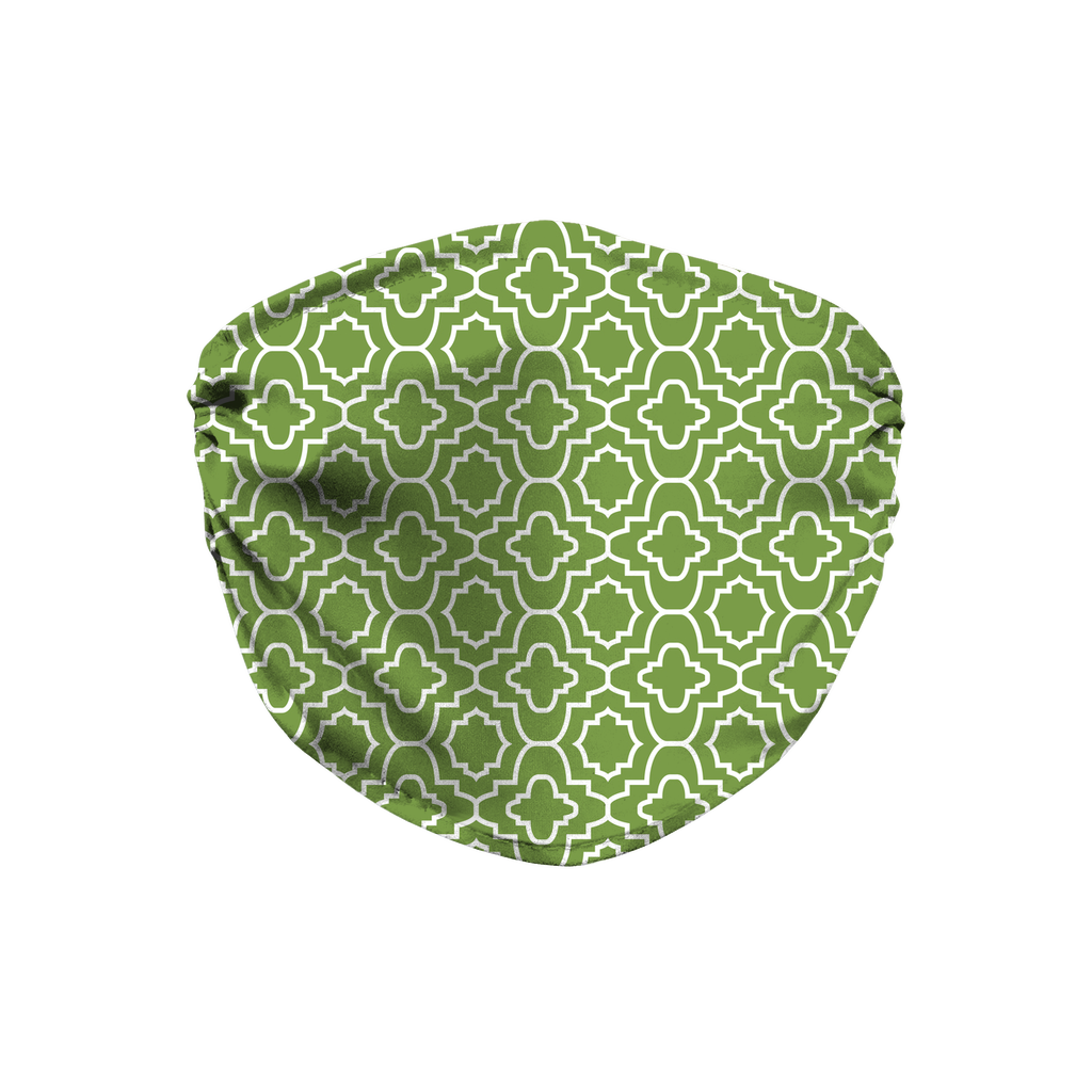 Green Moroccan Pattern 9  Face Mask