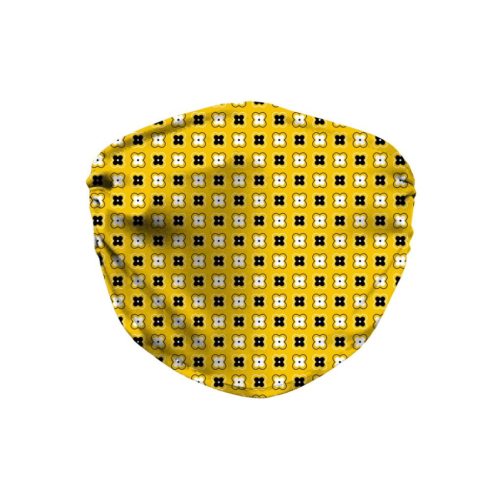 Yellow Bandana Pattern 4  Face Mask