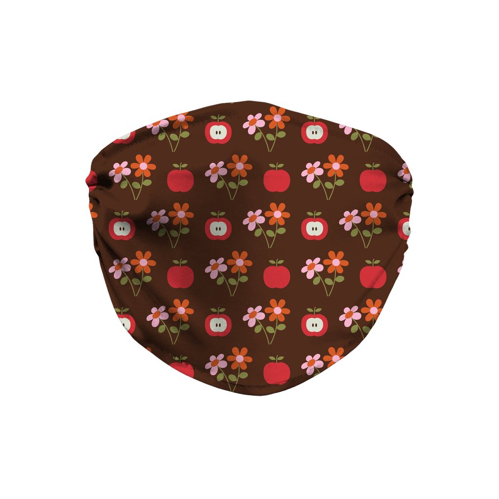 Dark Floral Geometric Pattern 12  Face Mask