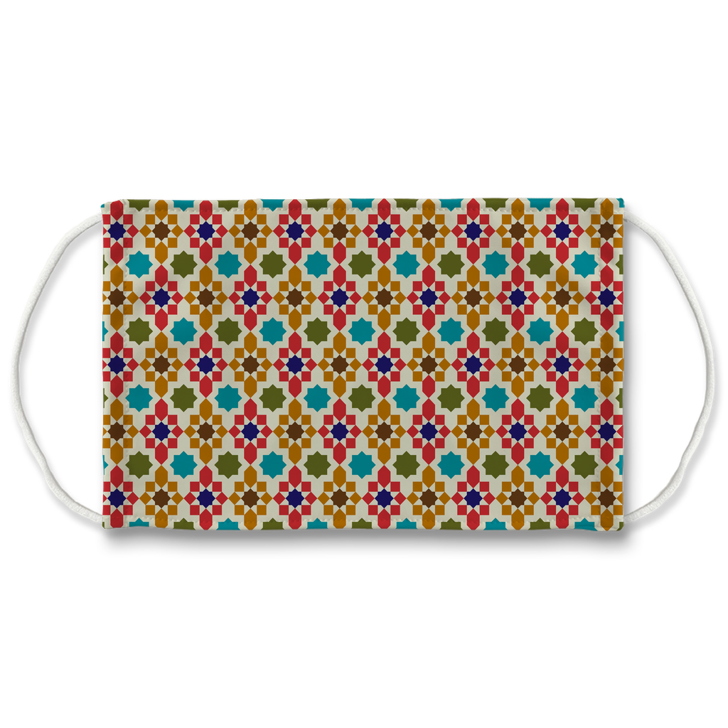 Moroccan Tile Pattern 9  Face Mask