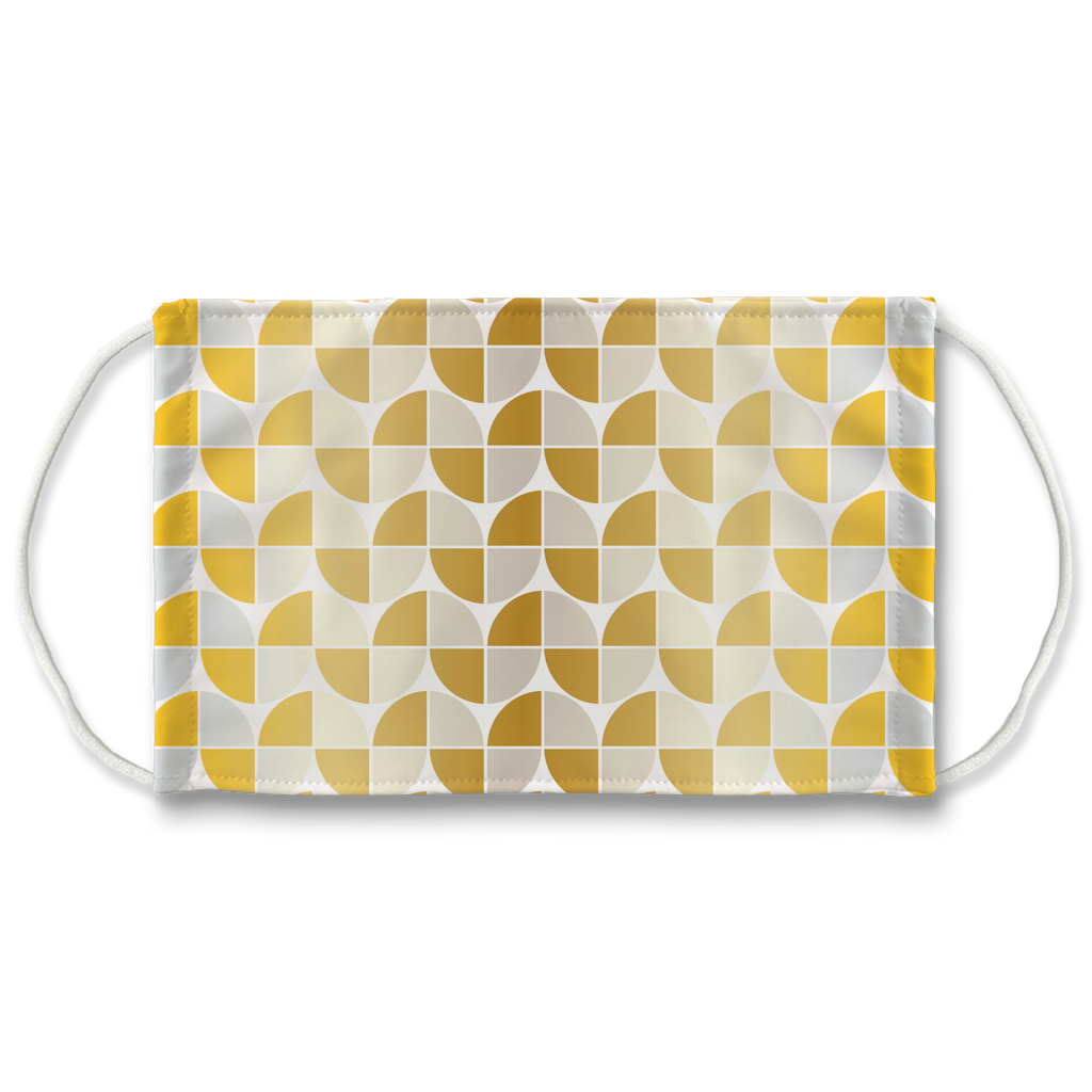 Silver Gold Pattern 2  Face Mask