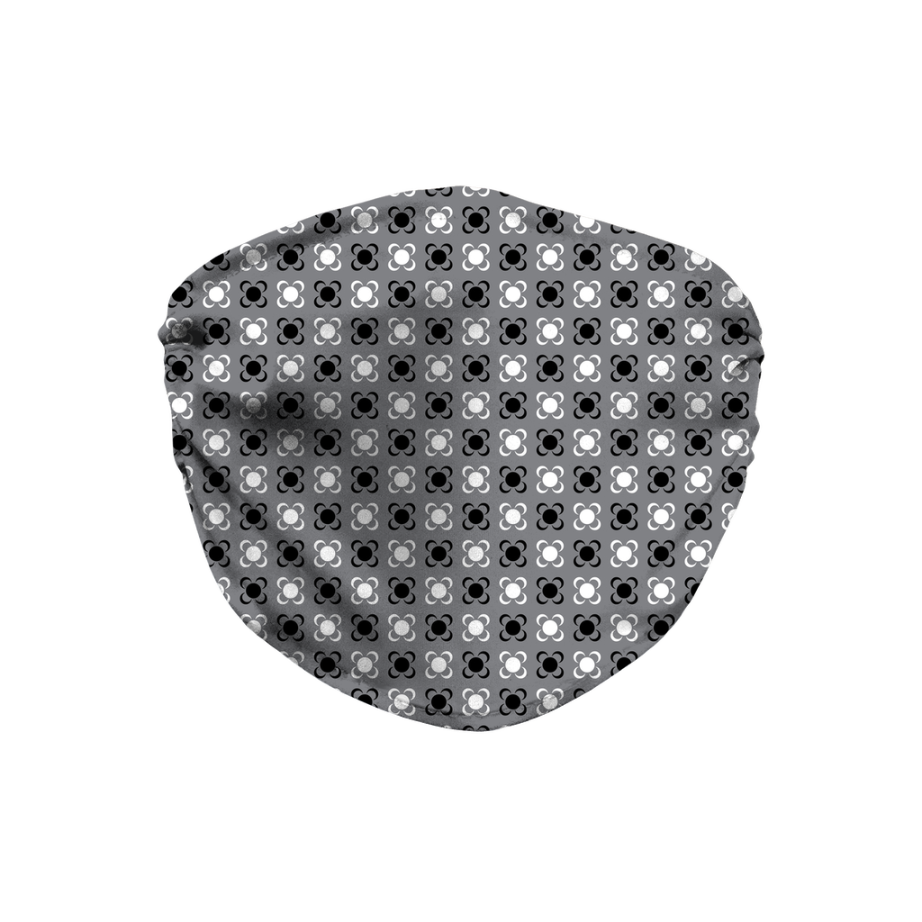 Gray Bandana Pattern 1  Face Mask