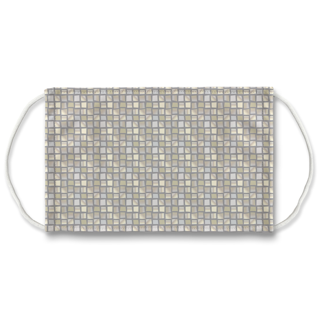 Mosaic Background Pattern 1  Face Mask