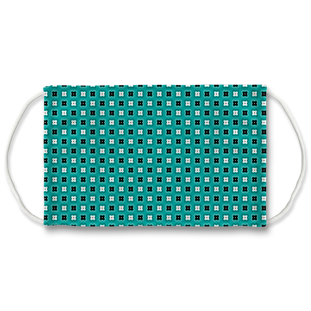 Turquoise Blue Bandana Pattern 4  Face Mask