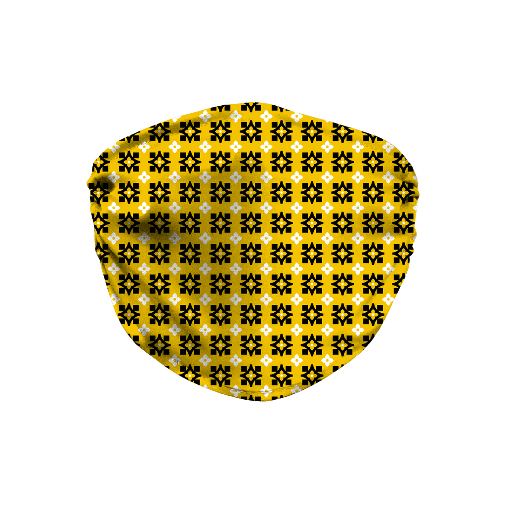 Yellow Bandana Pattern 10  Face Mask