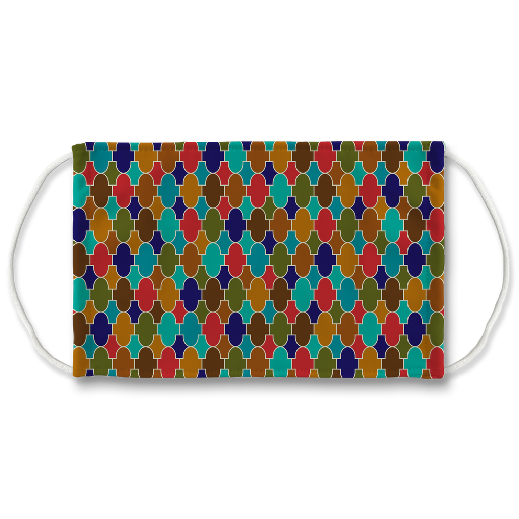 Moroccan Tile Pattern 5  Face Mask