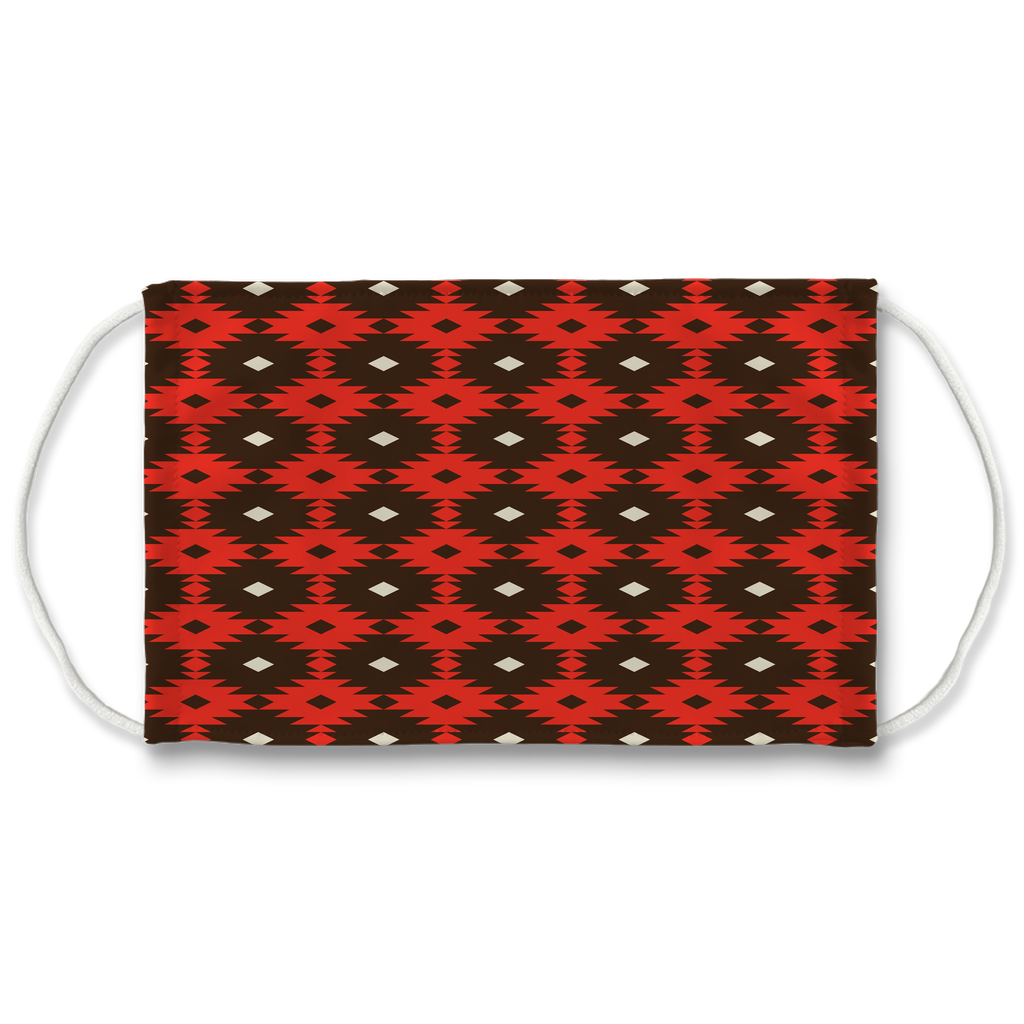 Native American Pattern 12  Face Mask