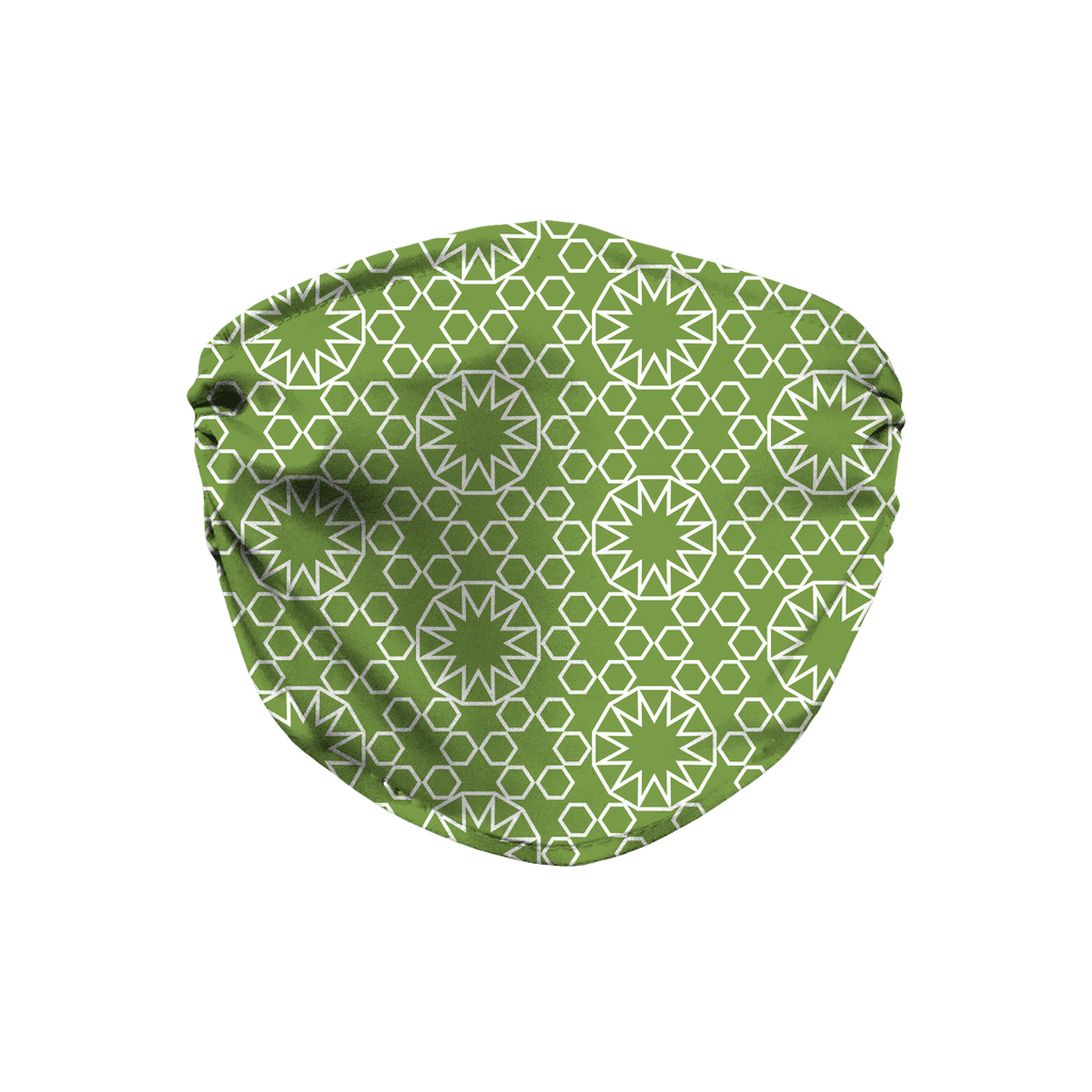 Green Moroccan Pattern 4  Face Mask