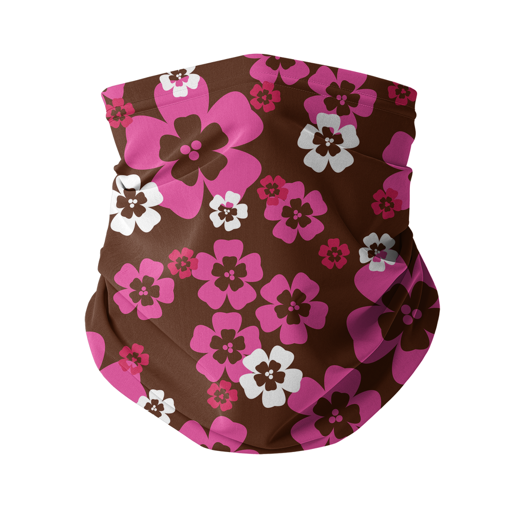 Seamless Pink Red Tropical Neck gaiter 6 Sublimation Neck Gaiter