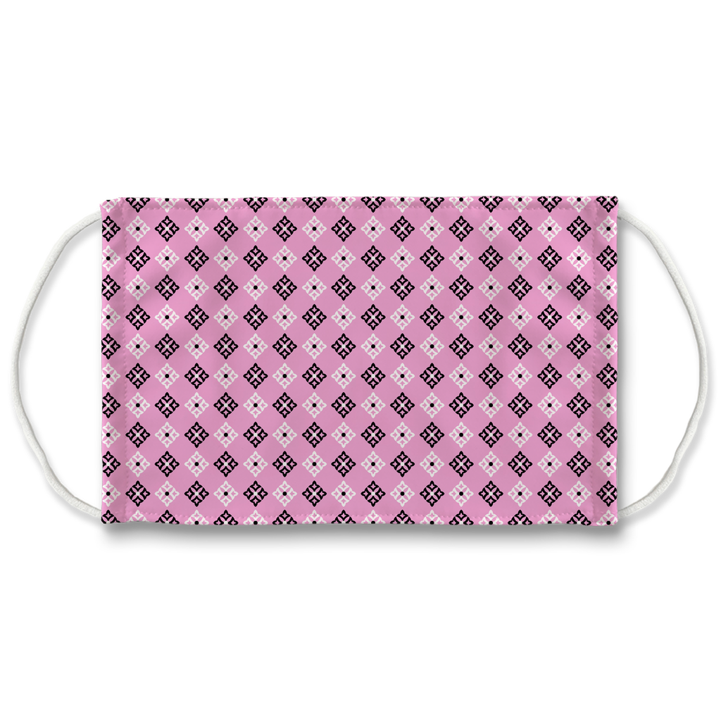 Pink Bandana Pattern 5  Face Mask