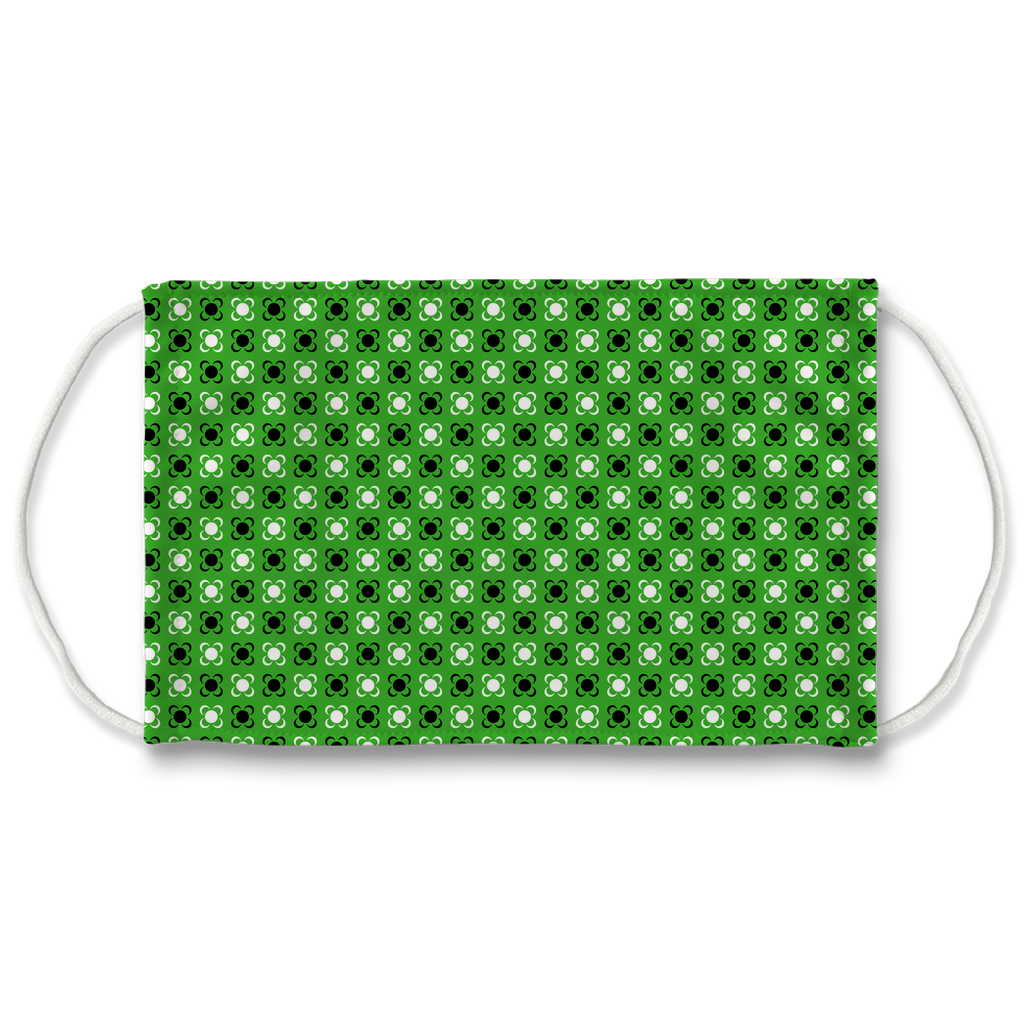Green Bandana Pattern 1  Face Mask