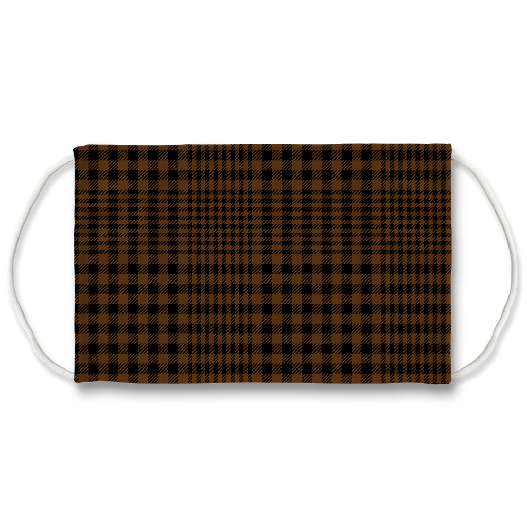 Glen Plaid 10  Face Mask