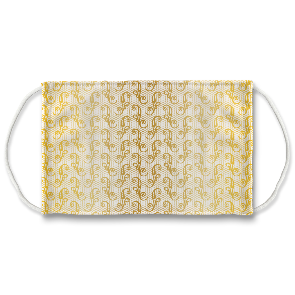 Gold Lace Pattern 1  Face Mask
