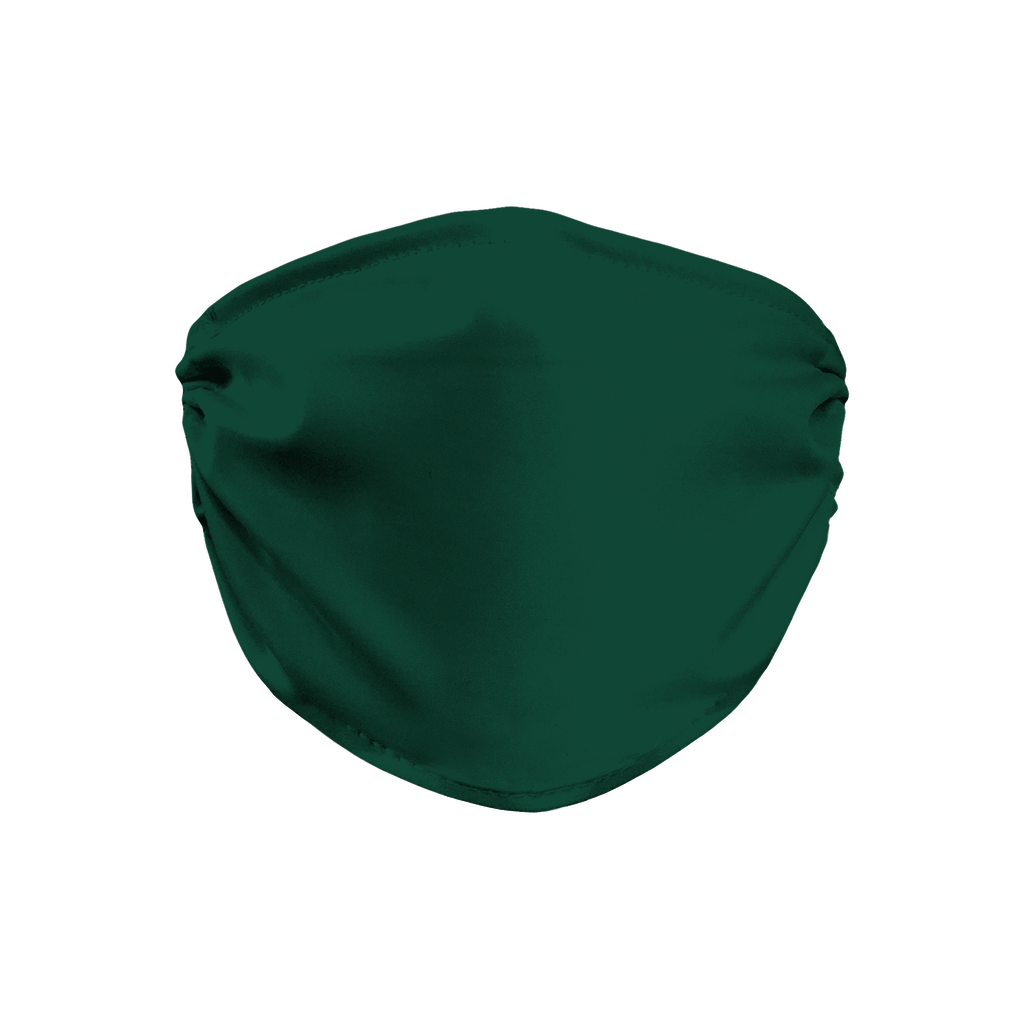 Solid color Dark Green  Face Mask