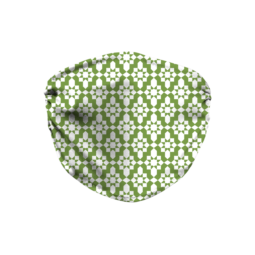 Green Moroccan Pattern 1  Face Mask