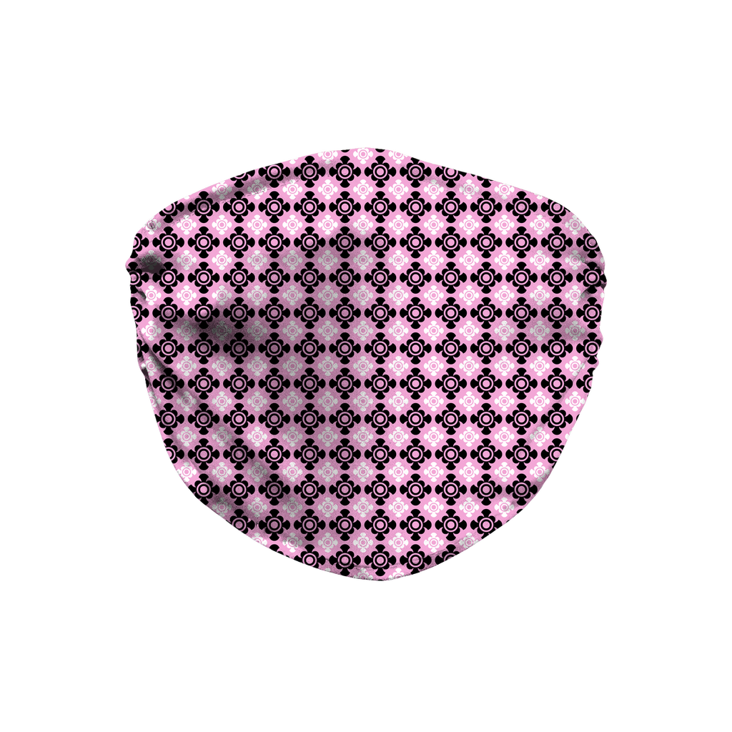 Pink Bandana Pattern 8  Face Mask