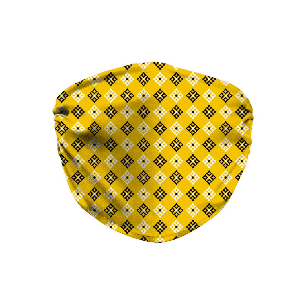 Yellow Bandana Pattern 5  Face Mask