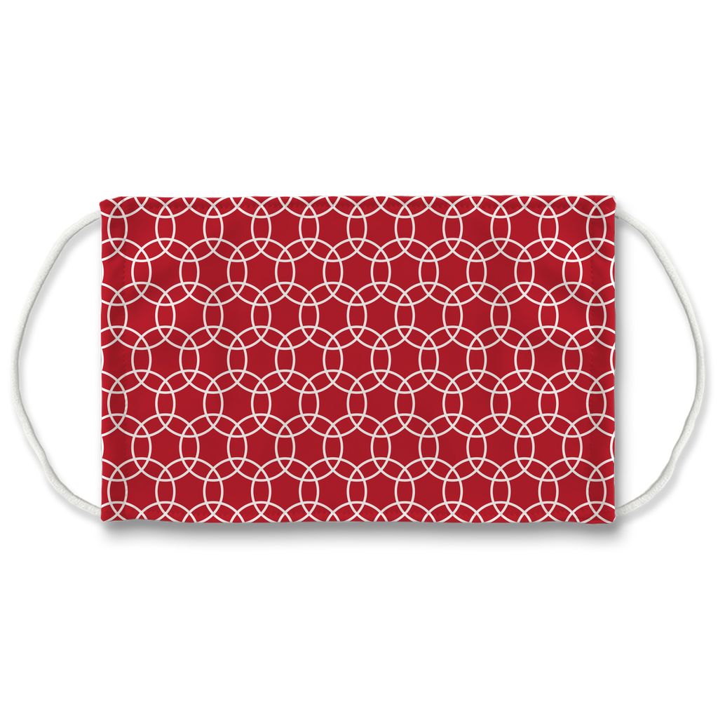 Red Moroccan Pattern 2  Face Mask