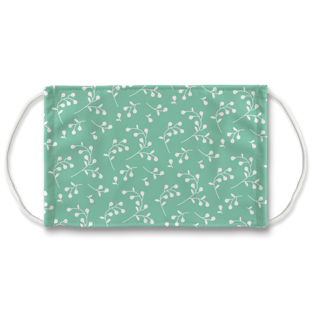 Retro Floral Pattern 2  Face Mask