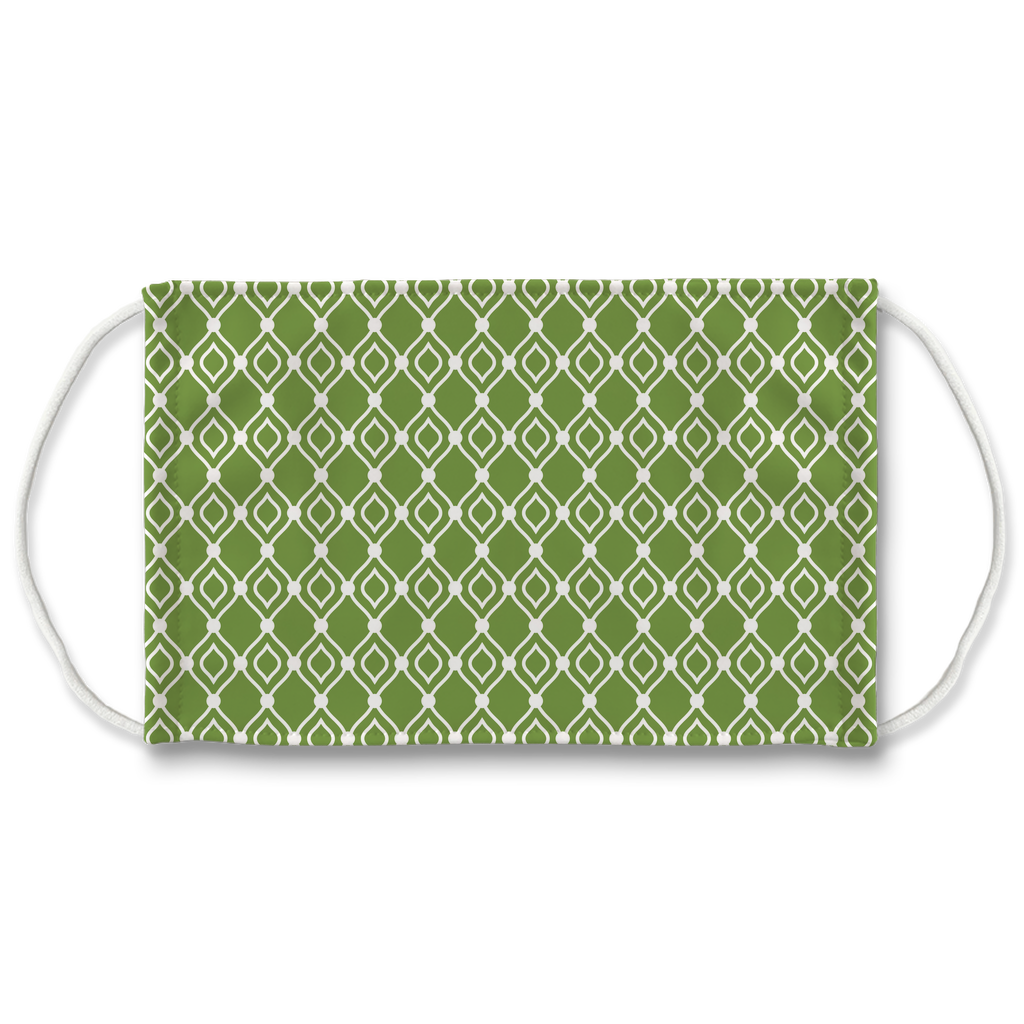 Green Moroccan Pattern 8  Face Mask