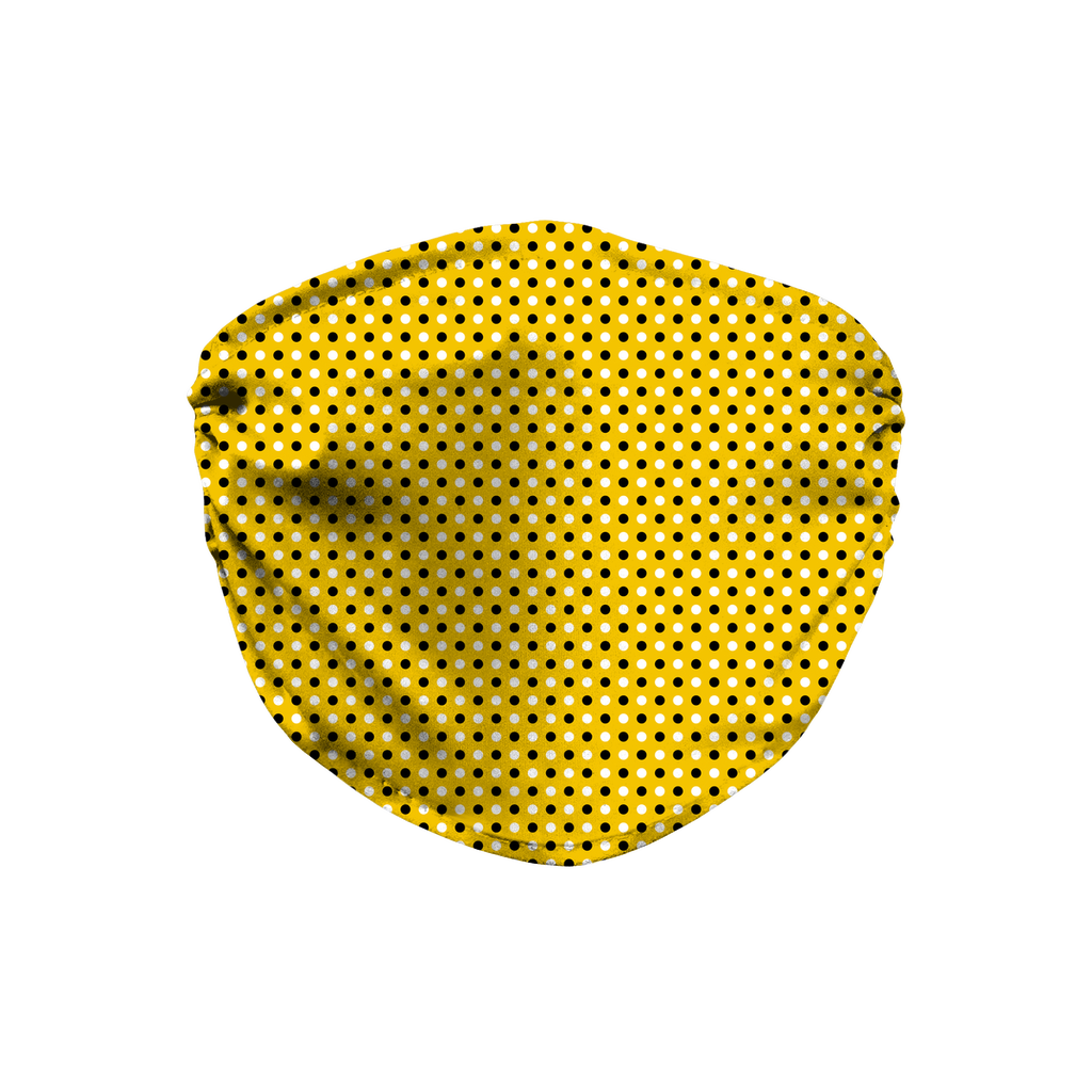 Yellow Bandana Pattern 2  Face Mask