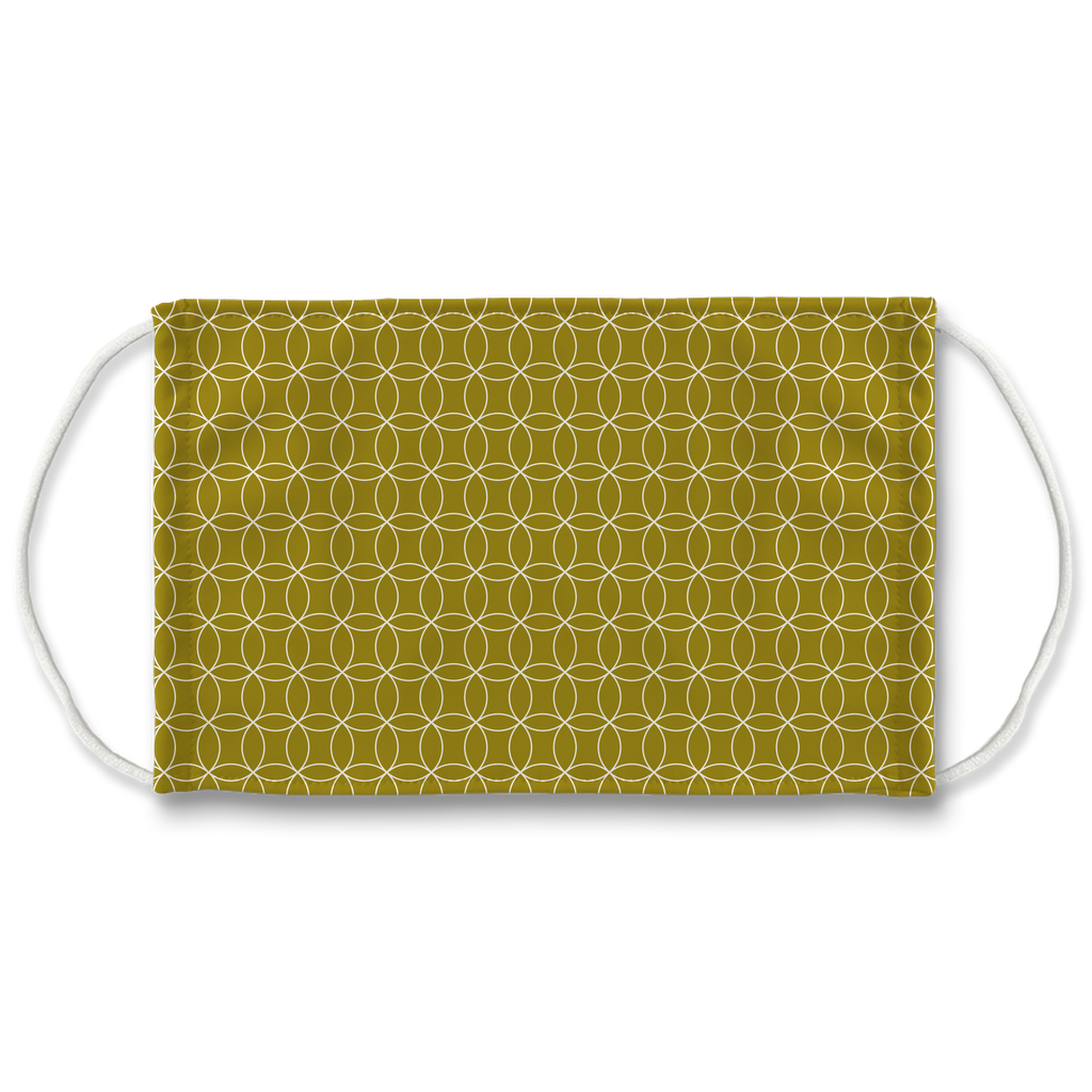 Circle Lattice Pattern 10  Face Mask