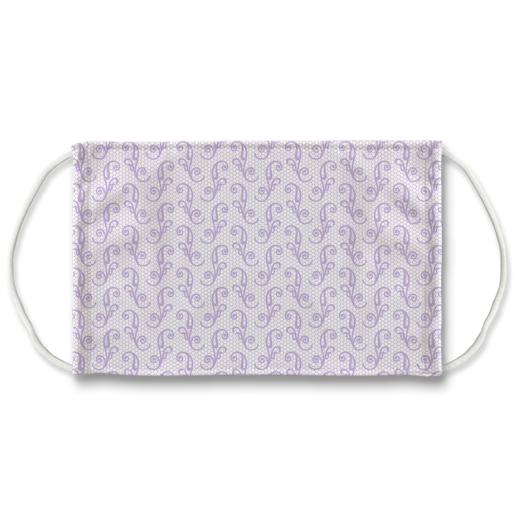 Lavender Lace Pattern 1  Face Mask