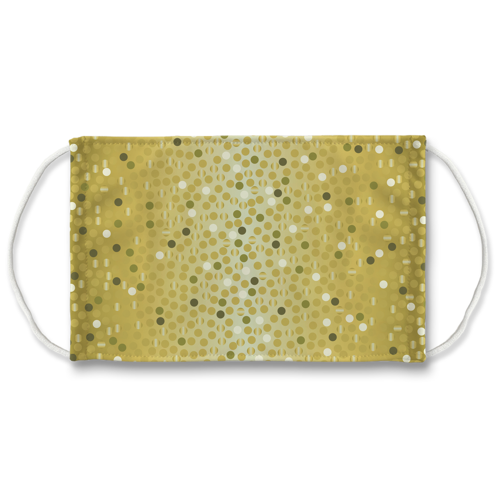 Dots Gradient Background 12  Face Mask