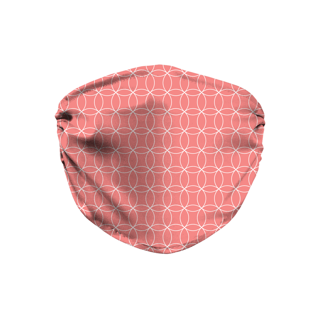 Circle Lattice Pattern 5  Face Mask