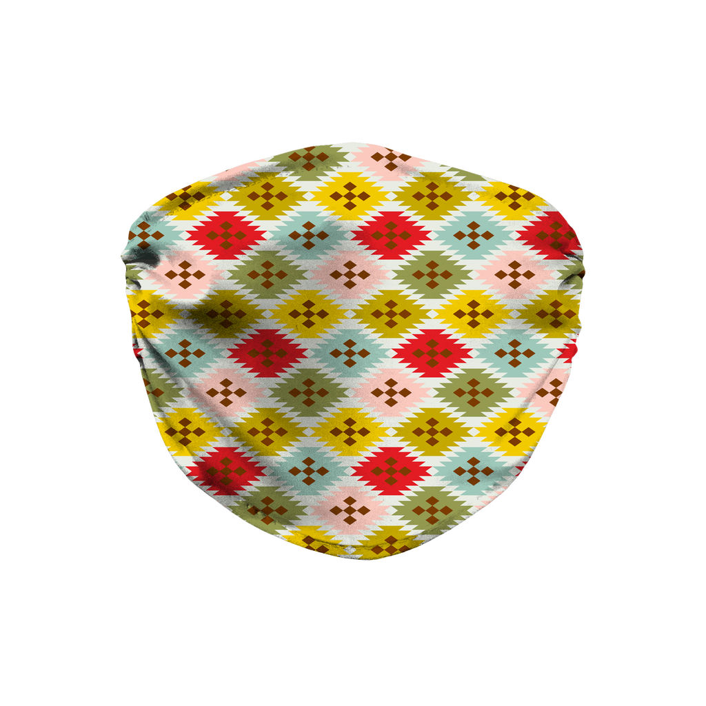Primitive Geometric Pattern 6  Face Mask